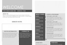 009 Fascinating Free Church Program Template Doc Sample