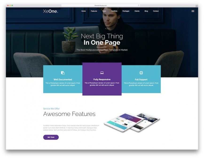 009 Fascinating Free Responsive Website Template Download Html And Cs Jquery Example  For It Company868