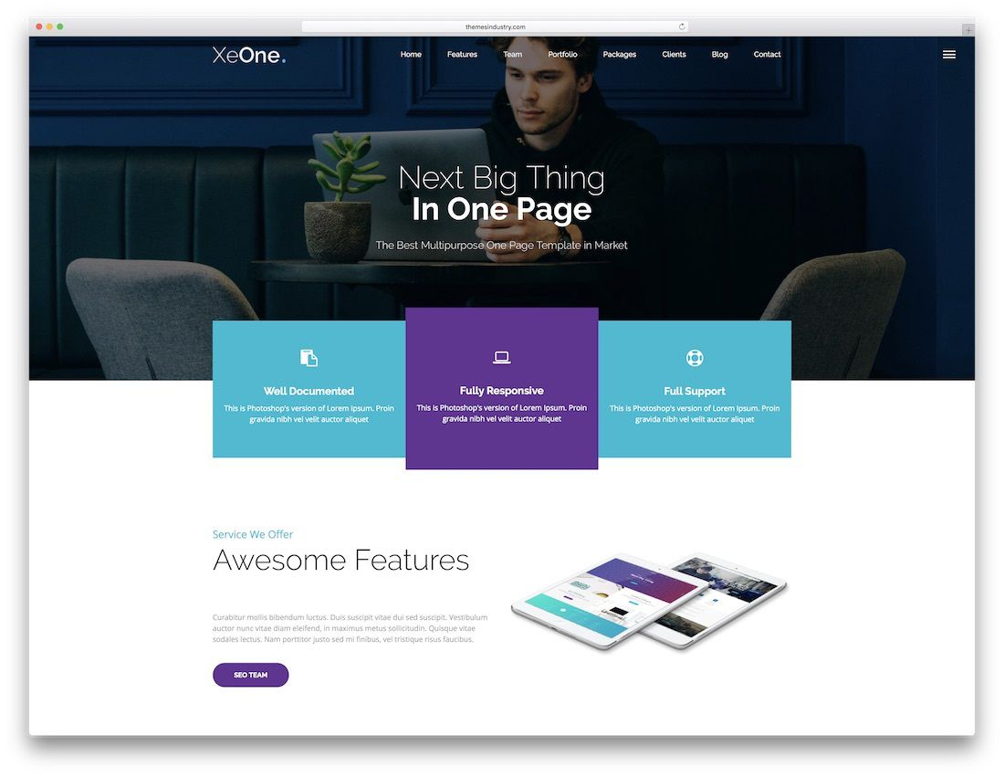 009 Fascinating Free Responsive Website Template Download Html And Cs Jquery Example  For It Company