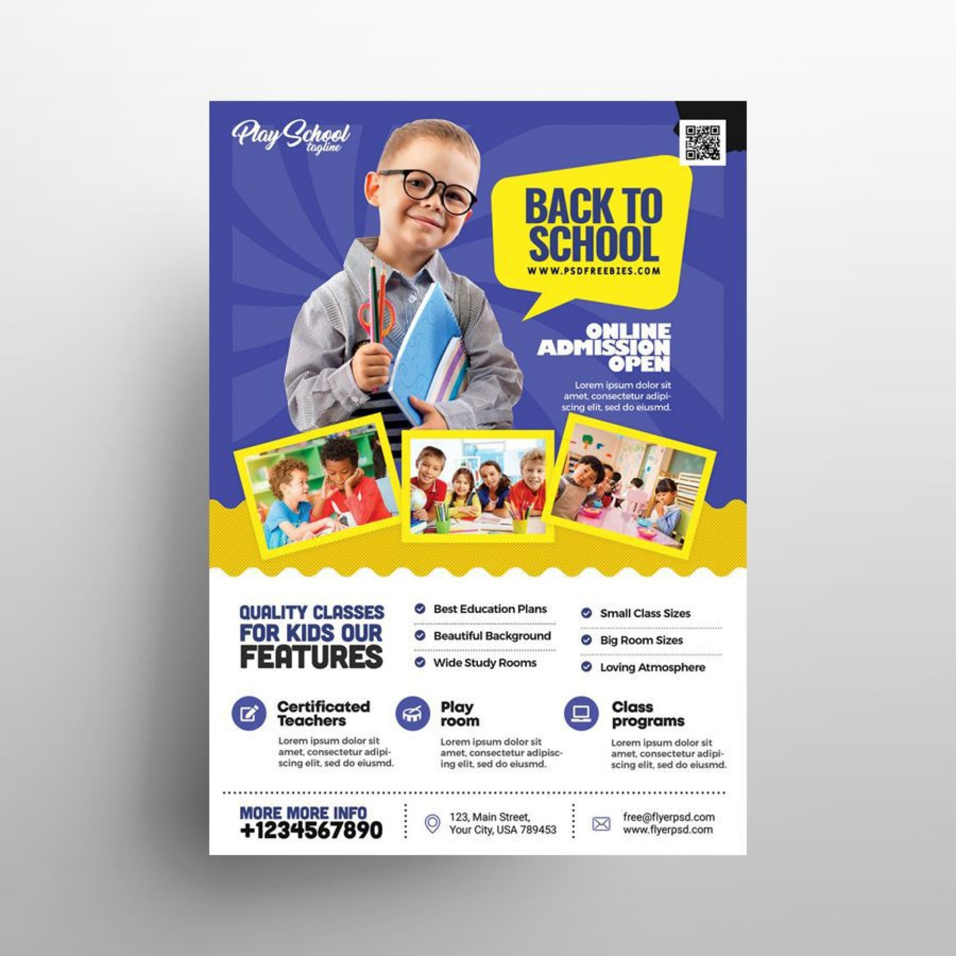 009 Fascinating Free School Flyer Template Psd Picture  Brochure Download Back To1920