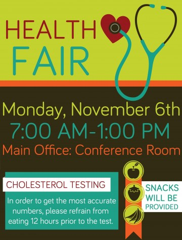 009 Fascinating Health Fair Flyer Template Highest Quality  And Wellnes Word360