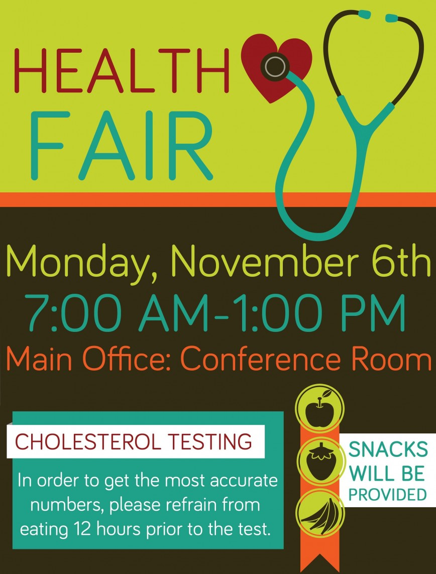 009 Fascinating Health Fair Flyer Template Highest Quality  And Wellnes Word868