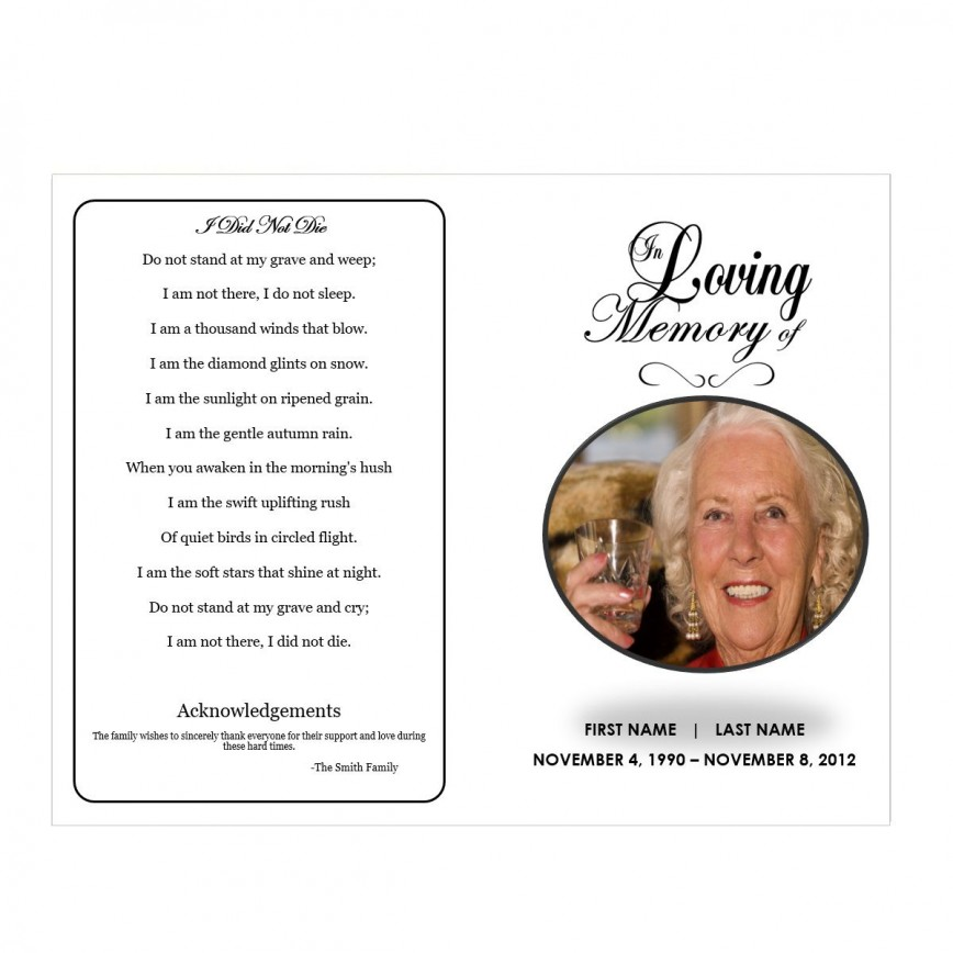 009 Fascinating In Loving Memory Template Image  Templates Free Online Picture Decal