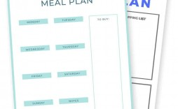 009 Fascinating Meal Plan Template Free Example  Sheet Pdf Printable Daily