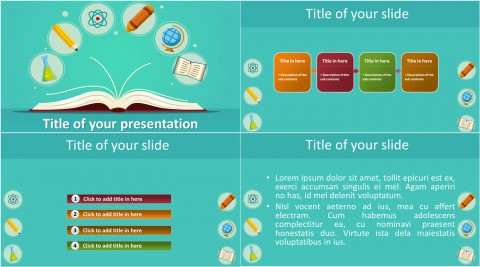 009 Fascinating Powerpoint Template Free Education Idea  Download Presentation Ppt480