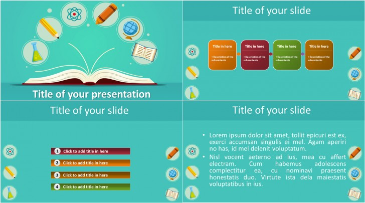 009 Fascinating Powerpoint Template Free Education Idea  Download Presentation Ppt728
