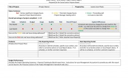 009 Fascinating Project Management Weekly Statu Report Sample  Template Excel Ppt