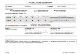 009 Fascinating Project Management Weekly Statu Report Sample  Template Excel Agile