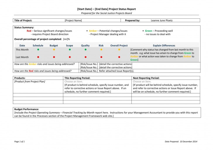 009 Fascinating Project Management Weekly Statu Report Sample  Template Excel Agile728