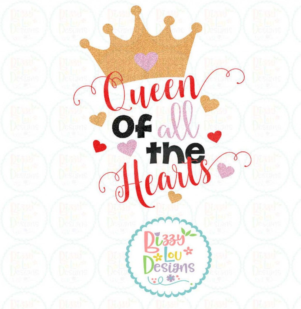 009 Fascinating Queen Of Heart Crown Printable Example  TemplateLarge