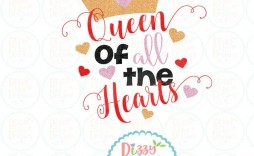 009 Fascinating Queen Of Heart Crown Printable Example  Template