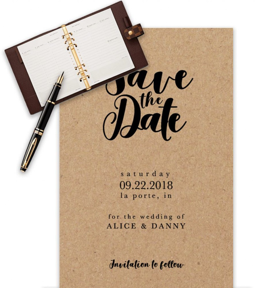 009 Fascinating Save The Date Word Template High Def  Free Birthday For Microsoft Postcard FlyerLarge