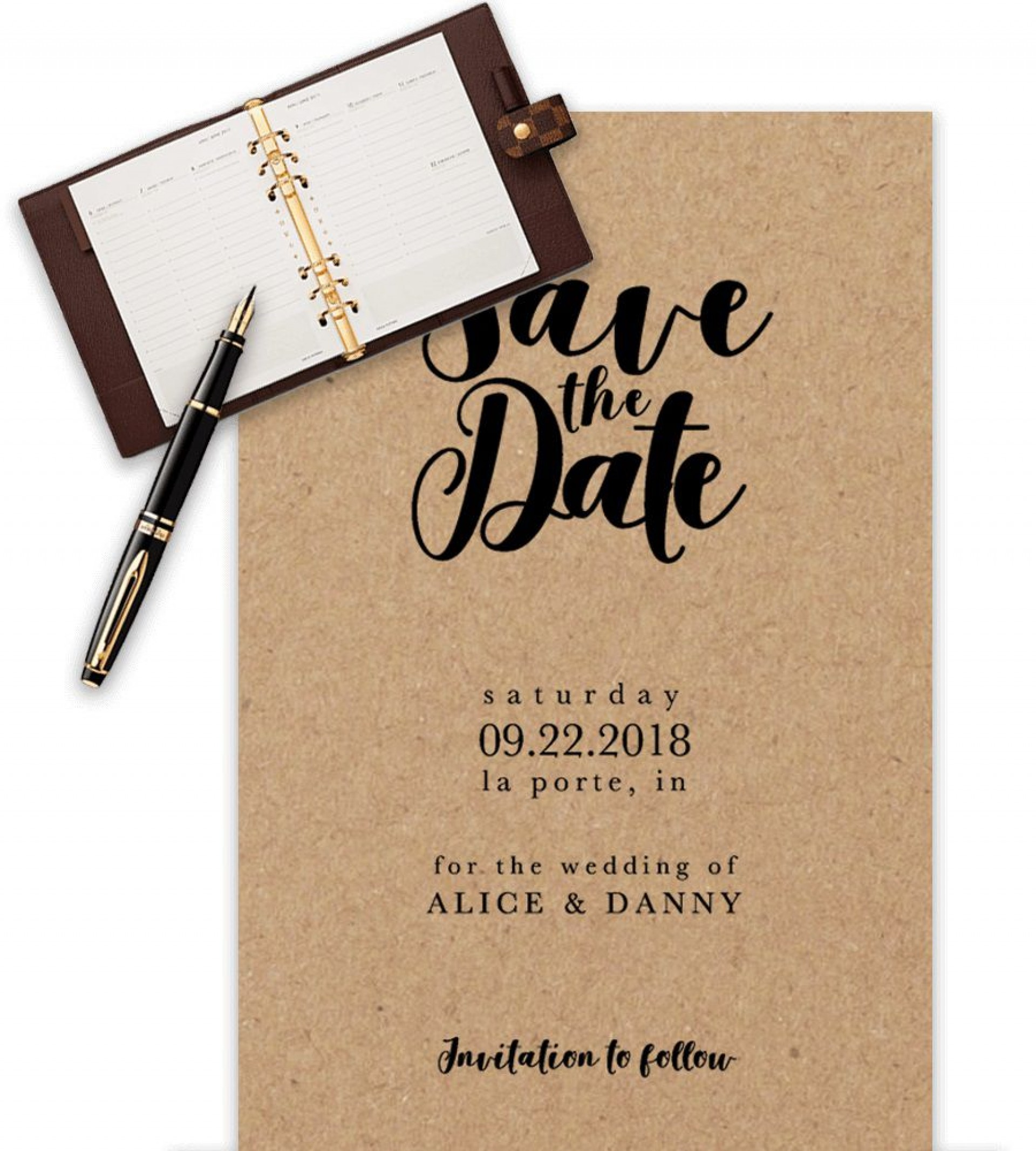 009 Fascinating Save The Date Word Template High Def  Free Birthday For Microsoft Postcard Flyer1920