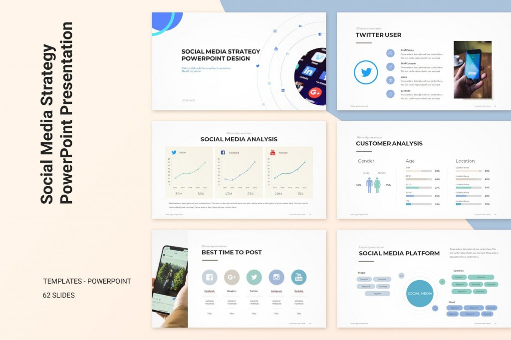 009 Fascinating Social Media Strategy Powerpoint Template Example  Marketing Plan FreeLarge