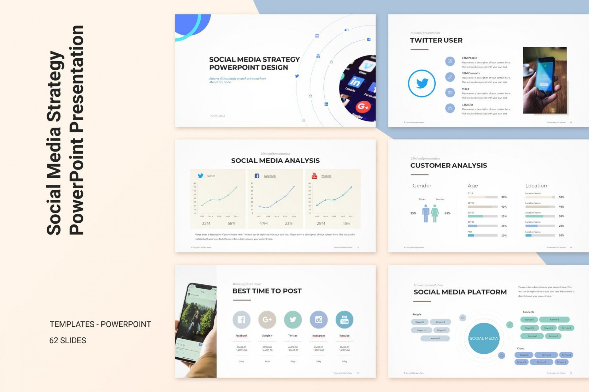 009 Fascinating Social Media Strategy Powerpoint Template Example  Marketing Plan Free1920