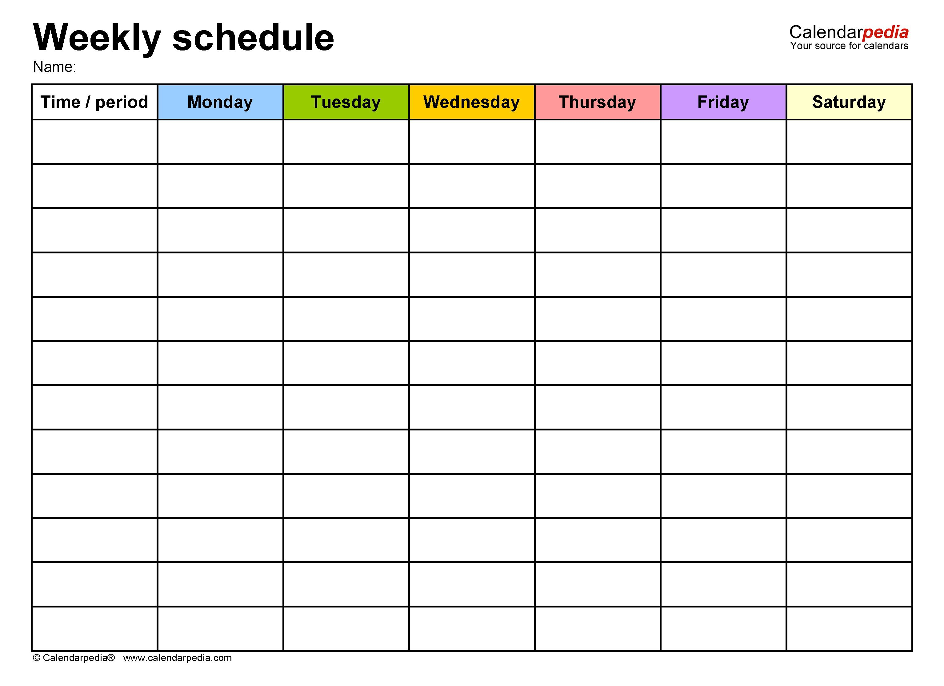 009 Fascinating Weekly Appointment Calendar Template Picture  Free WordFull