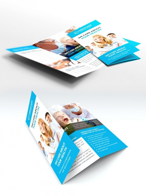 009 Fearsome Adobe Photoshop Brochure Template Free Download Concept 480