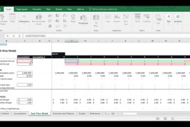 009 Fearsome Cash Flow Sample Excel Concept  Spreadsheet Free Forecast Template