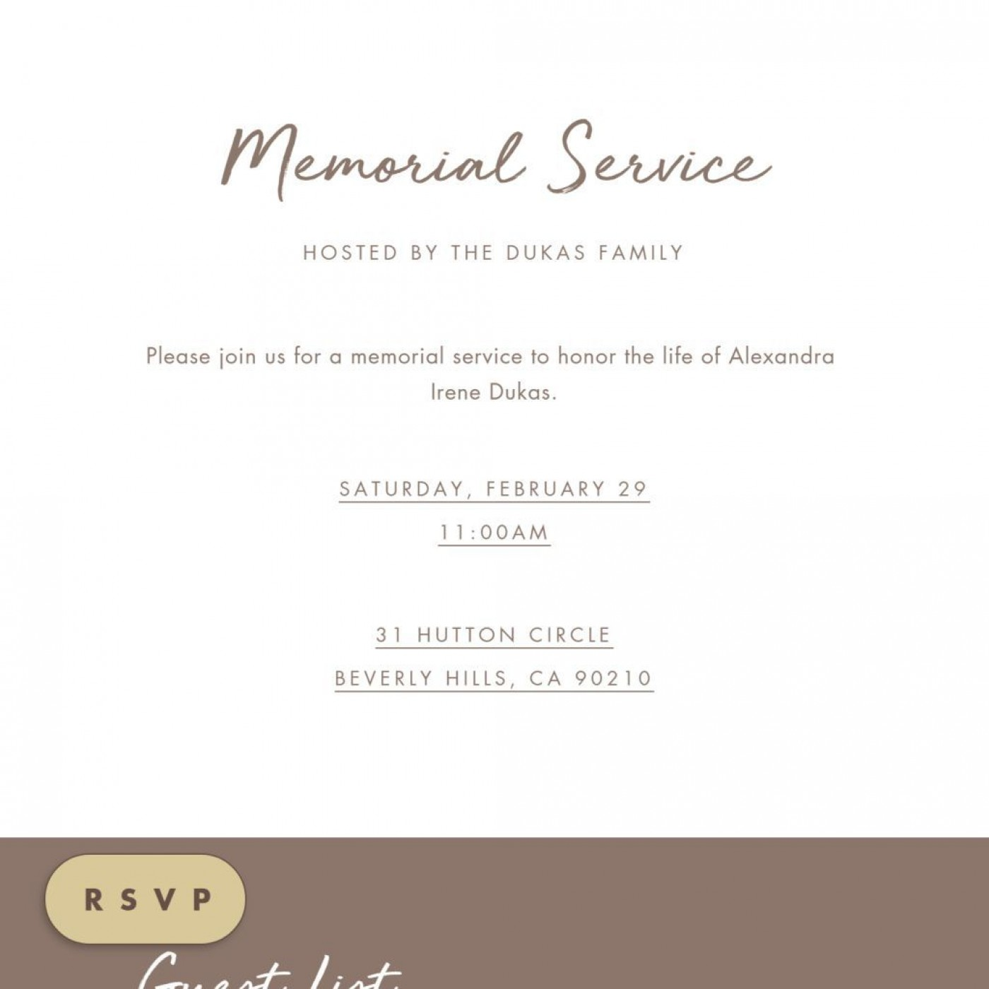009 Fearsome Celebration Of Life Invite Template Free Picture  Invitation Download1400