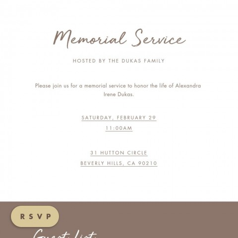 009 Fearsome Celebration Of Life Invite Template Free Picture  Invitation Download480