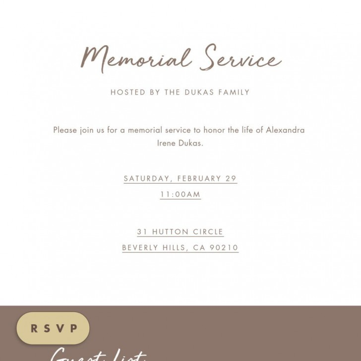 009 Fearsome Celebration Of Life Invite Template Free Picture  Invitation Download728