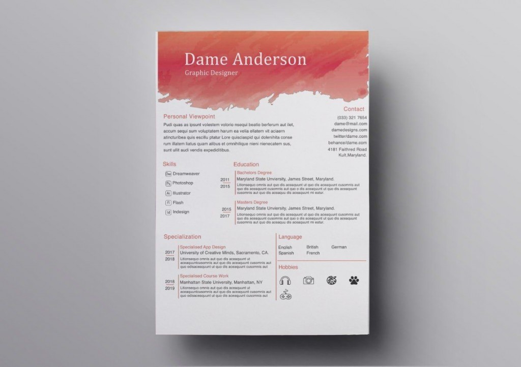 009 Fearsome Download Resume Template Free Mac Highest Quality  ForLarge