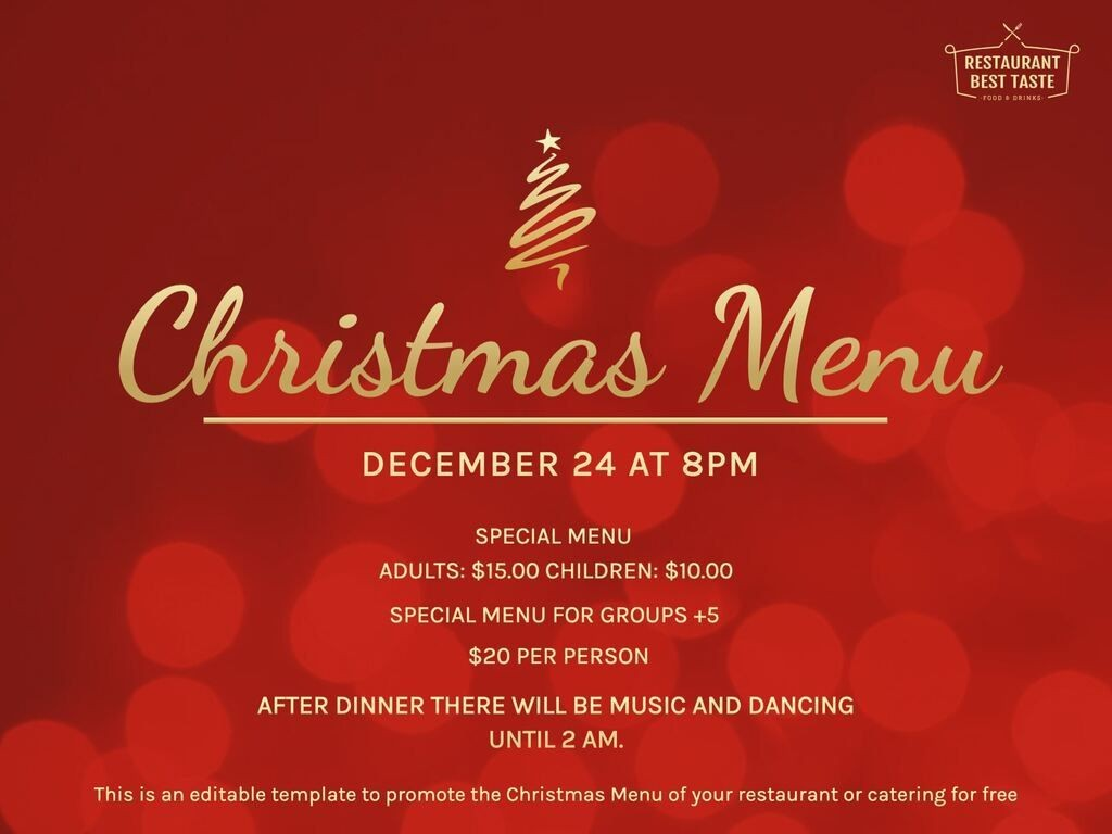 009 Fearsome Free Christma Menu Template Microsoft Word High Definition Large