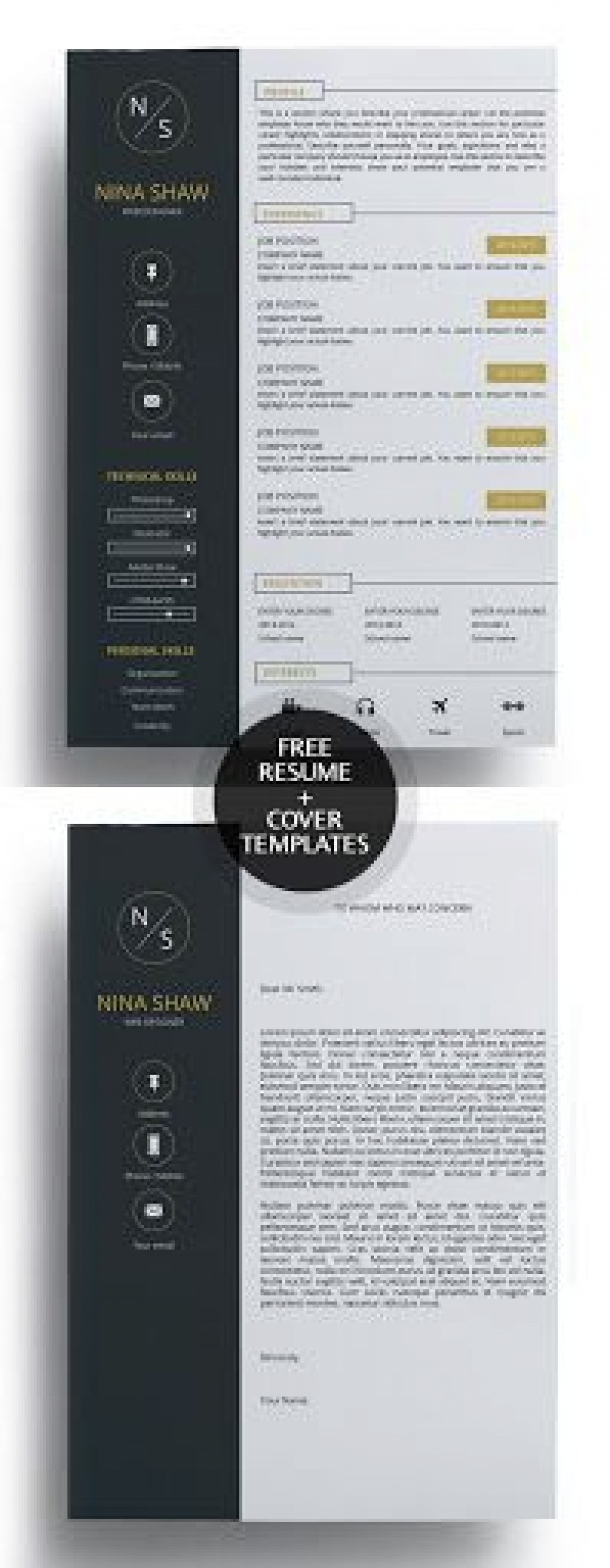 009 Fearsome Free Download Cv Cover Letter Template Example  TemplatesLarge