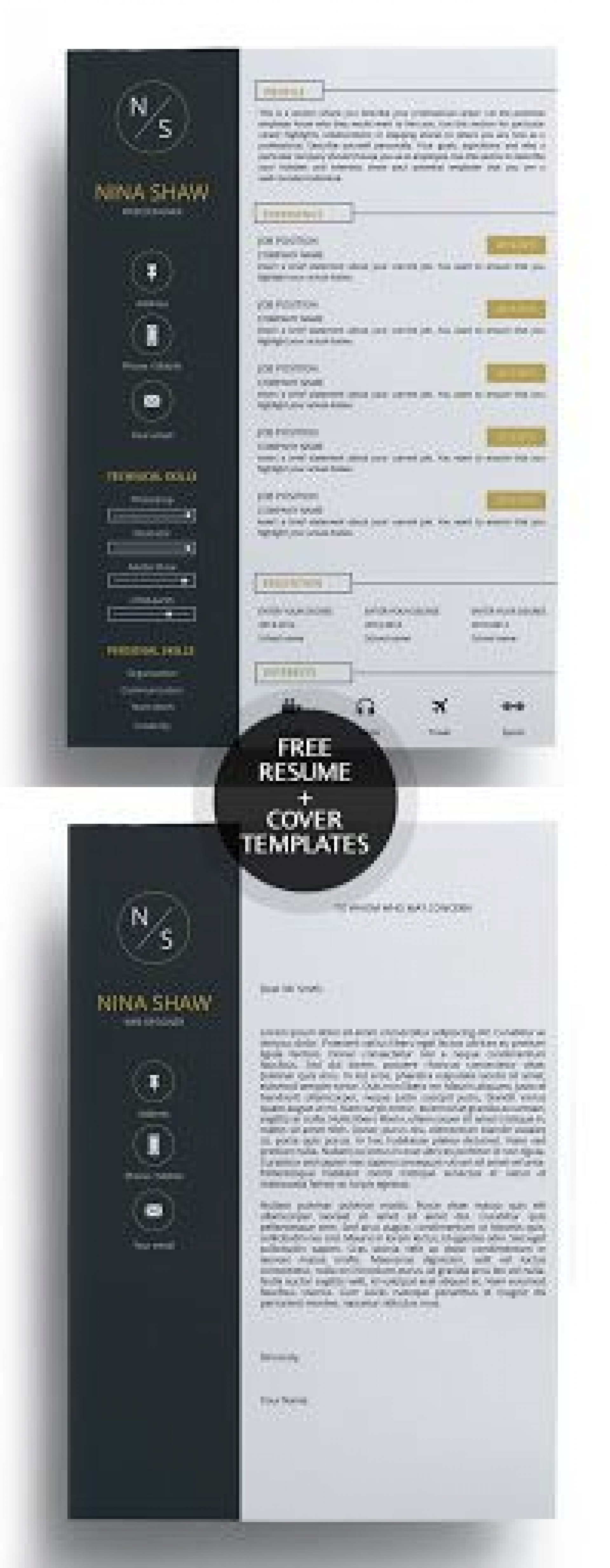 009 Fearsome Free Download Cv Cover Letter Template Example  Templates1920