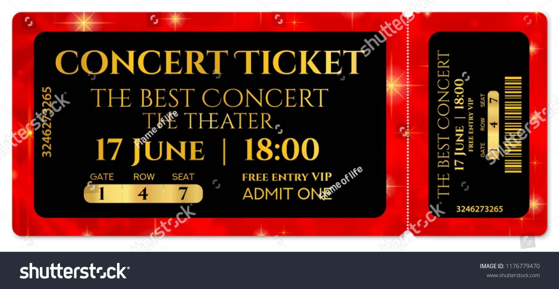 009 Fearsome Free Fake Concert Ticket Template Image 1920