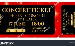 009 Fearsome Free Fake Concert Ticket Template Image