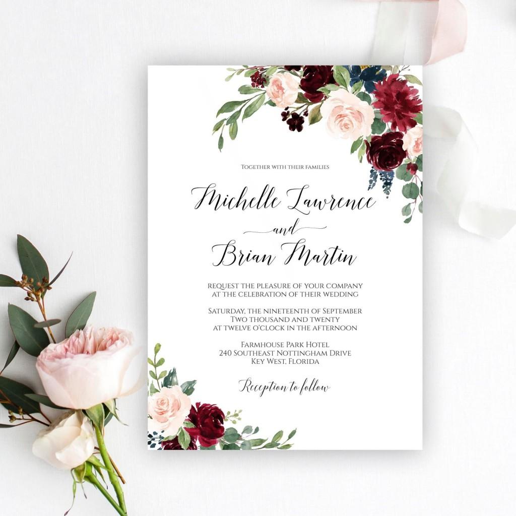 009 Fearsome Microsoft Word Wedding Invitation Template Free Download High Resolution  M EditableLarge