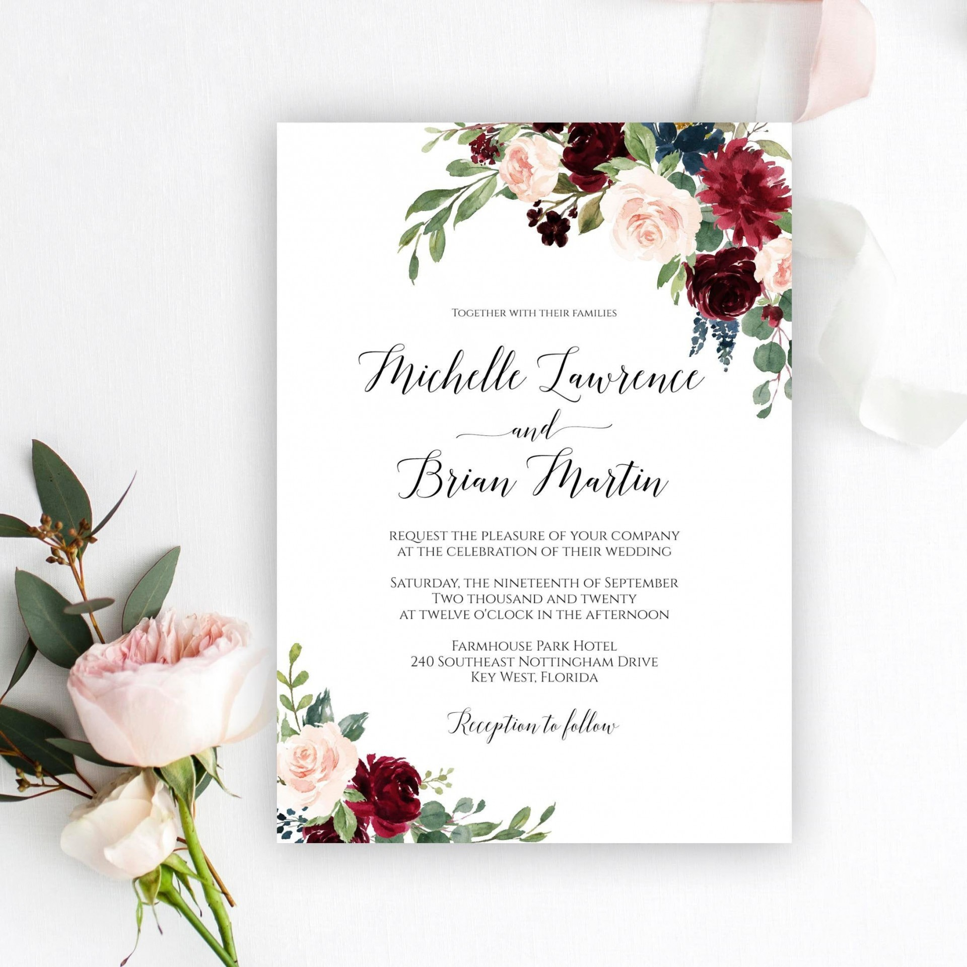 009 Fearsome Microsoft Word Wedding Invitation Template Free Download High Resolution  M Editable1920