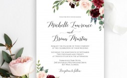 009 Fearsome Microsoft Word Wedding Invitation Template Free Download High Resolution  M Editable