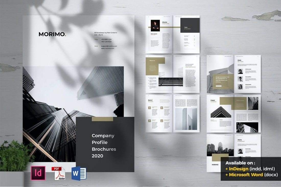 009 Fearsome M Word Brochure Template Free Download Highest Quality  Microsoft 2007Full