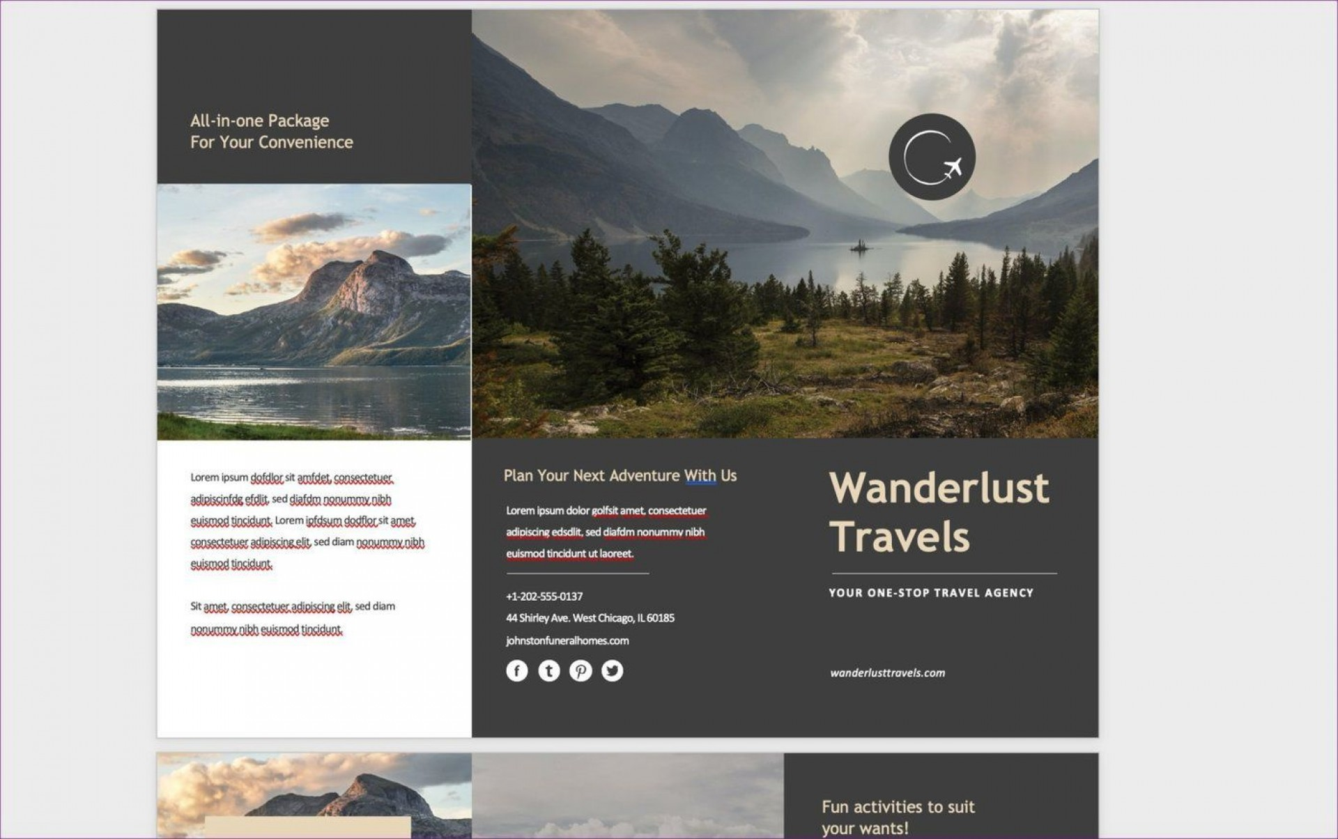 009 Fearsome M Word Travel Brochure Template Highest Quality  Microsoft Free1920