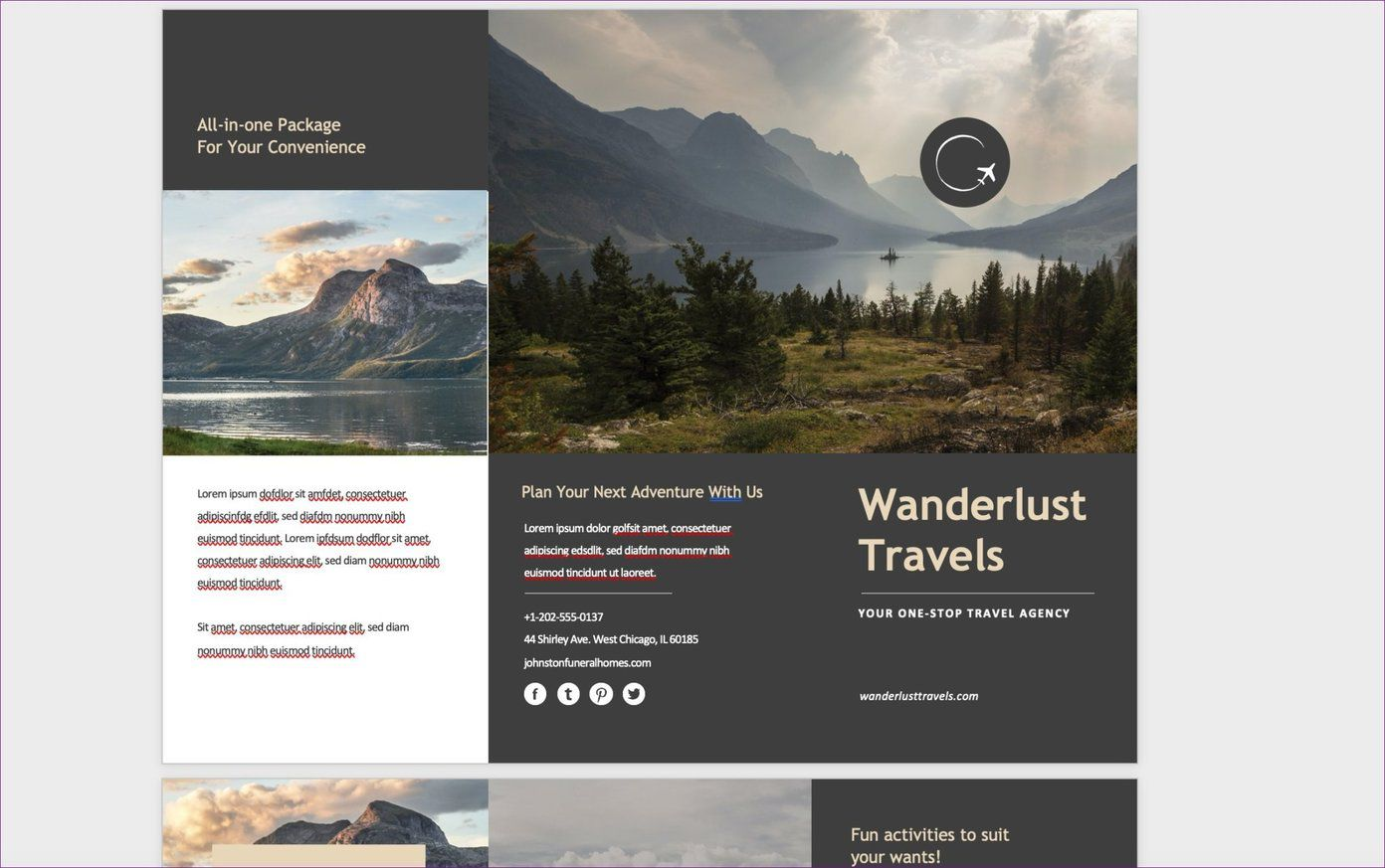 009 Fearsome M Word Travel Brochure Template Highest Quality  Microsoft FreeFull