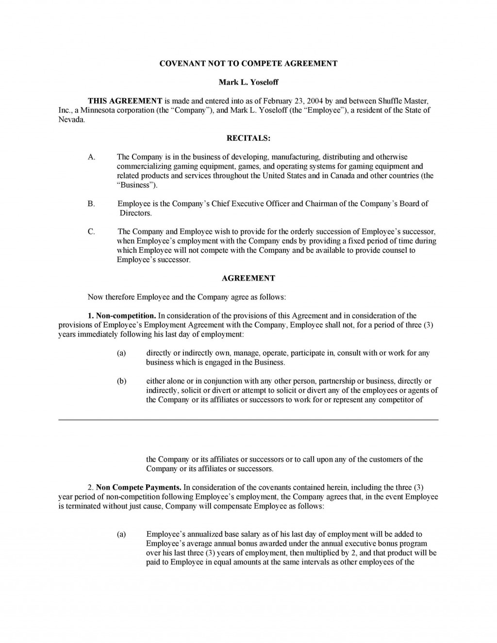009 Fearsome Non Compete Agreement Template South Africa Example Large