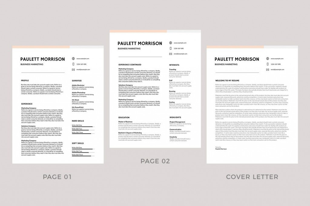 009 Fearsome Professional Resume Template 2019 Free Download High Resolution  CvLarge