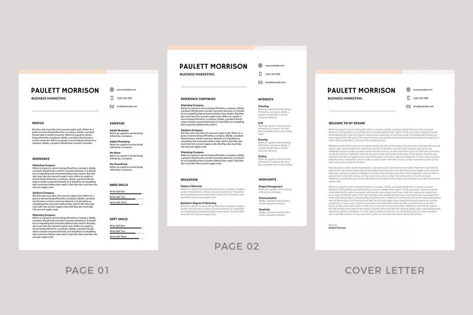 009 Fearsome Professional Resume Template 2019 Free Download High Resolution  Cv1920