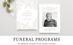 009 Fearsome Sample Wording For Funeral Program Idea  Programs