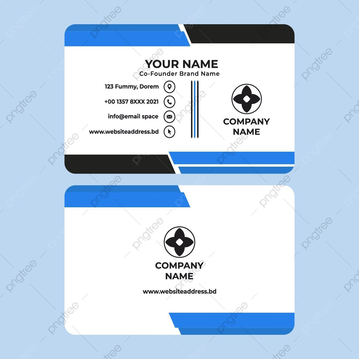 009 Fearsome Simple Visiting Card Template Highest Clarity  Templates Busines Psd Design File Free DownloadFull