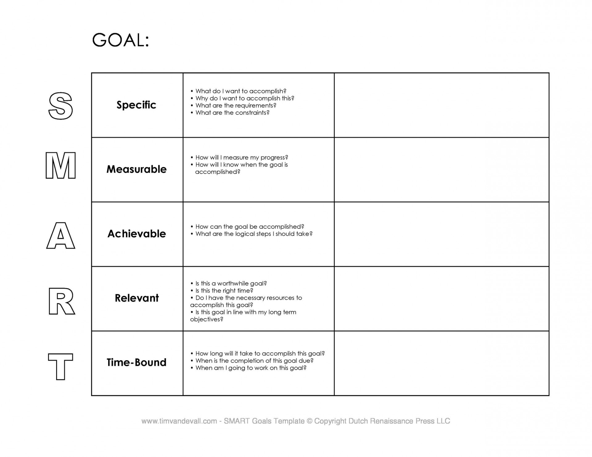 009 Fearsome Smart Goal Template Excel Highest Quality  Free Setting Worksheet1920