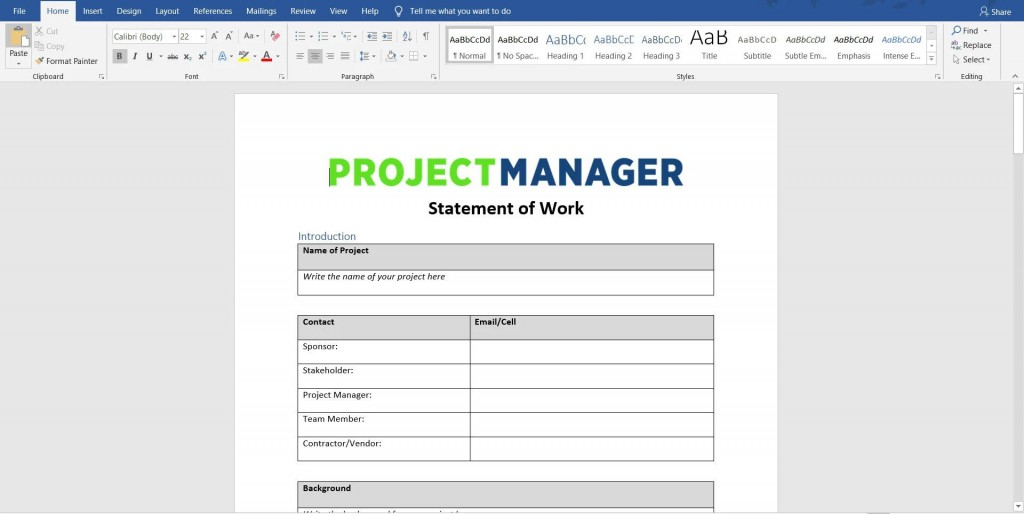 009 Fearsome Statement Of Work Template Consulting High Resolution  For ServiceLarge