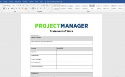 009 Fearsome Statement Of Work Template Consulting High Resolution  Sample