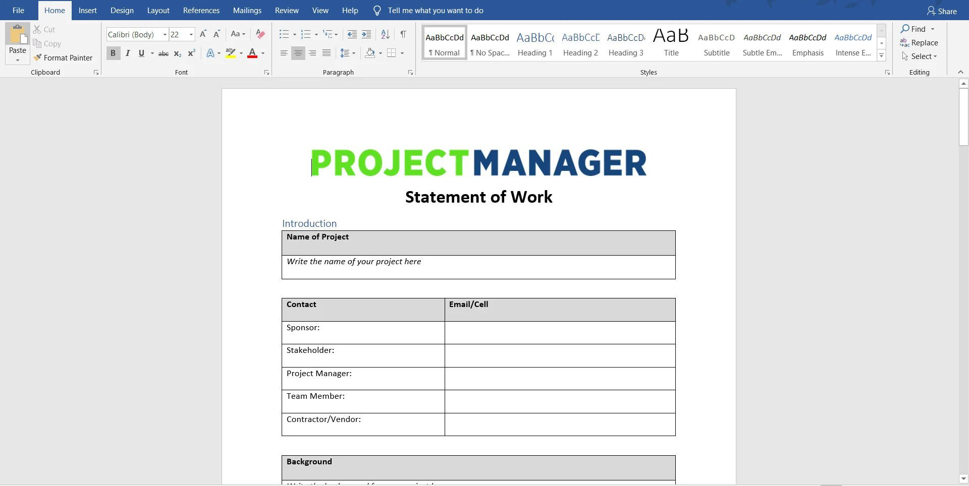 009 Fearsome Statement Of Work Template Consulting High Resolution  SampleFull