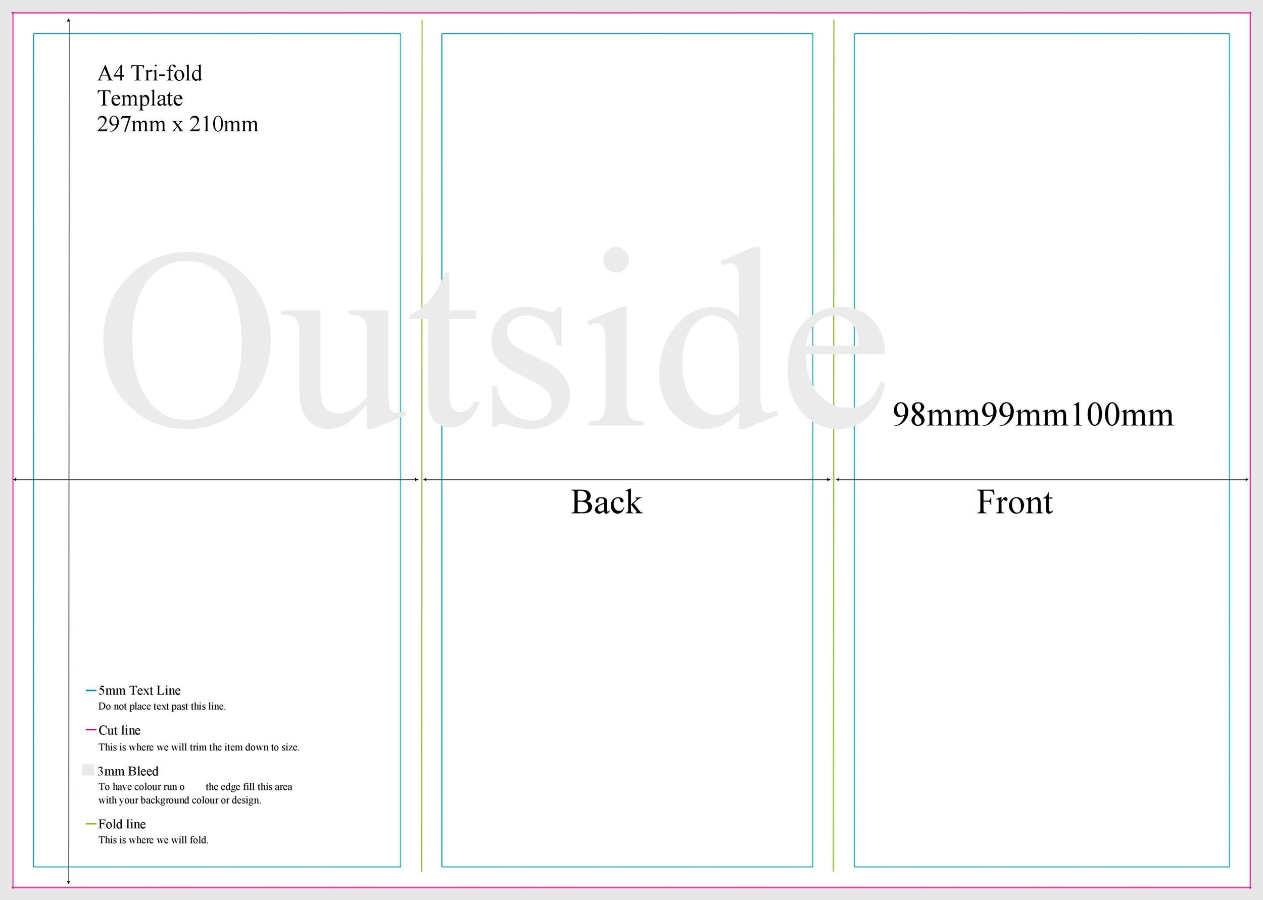 009 Fearsome Three Fold Brochure Template Google Doc Idea  DocsFull