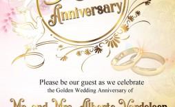 009 Formidable 50th Wedding Anniversary Invitation Card Template Sample  Templates
