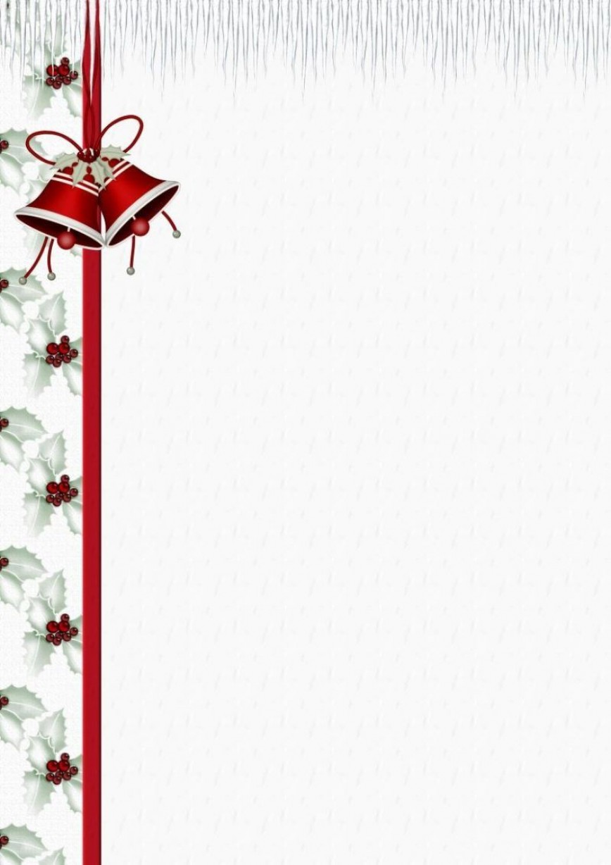 009 Formidable Christma Stationery Template Word Free Concept  Religiou For Downloadable868