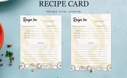 009 Formidable Editable Recipe Card Template High Resolution  Free For Microsoft Word 4x6 Page